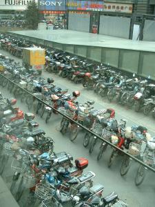 北京の駐輪場