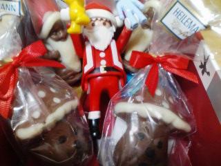 サンタとチョコ詰め合わせ