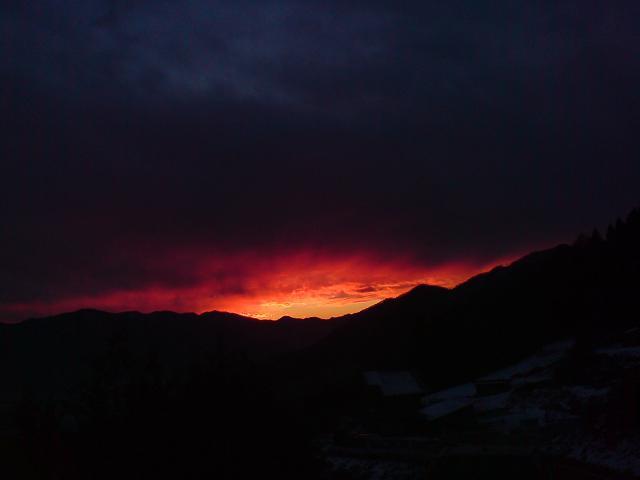 日の出の方向