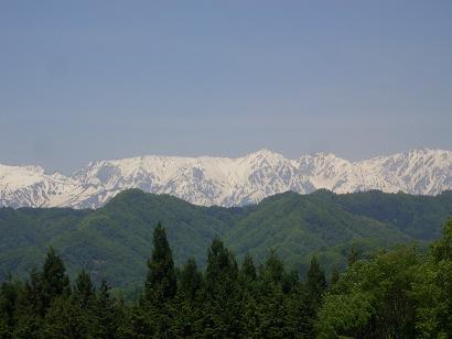 小川村からの北アルプス眺望