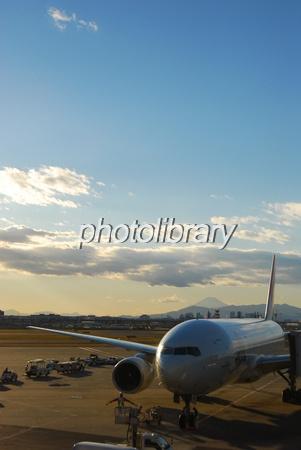 594478 夕刻の空港