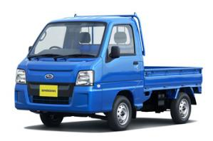 スバル サンバー 青 トラック