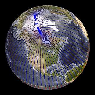 地球の磁場を描いた想像図