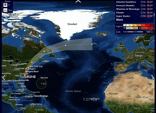 NY直撃後、イギリスとフランスへ向かうハリケーン