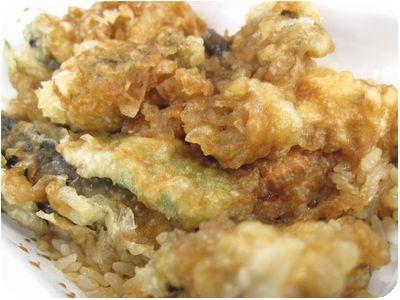 国産野菜天丼弁当+牡蠣天