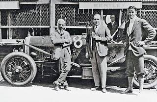 1924年ル・マン優勝車3LとClement、WO、Duff(左から)
