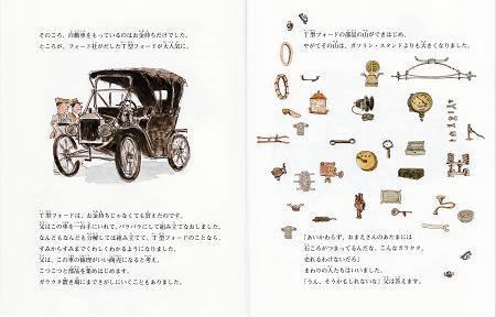 T型フォードと部品(「あたまにつまった石ころが」より)