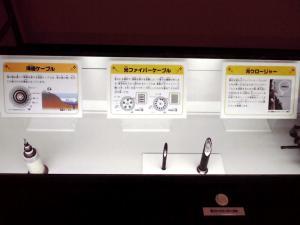 大阪科学技術館 ケイ・オプティコムブース(光ファイバーの紹介:その1)