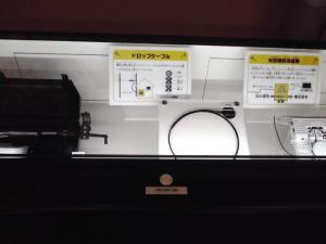 大阪科学技術館 ケイ・オプティコムブース(光ファイバーの紹介:その2)