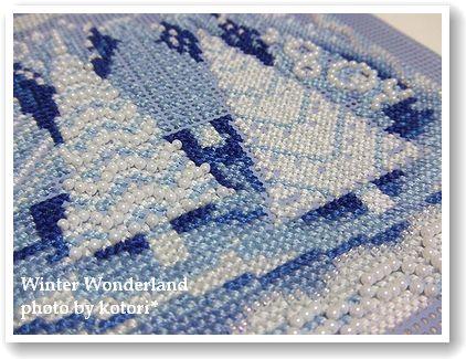 刺繍「Winter~」経過8