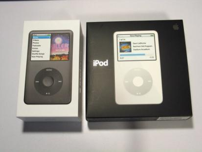 iPod classic とvideo 箱