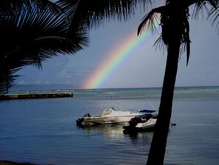サイパンの虹