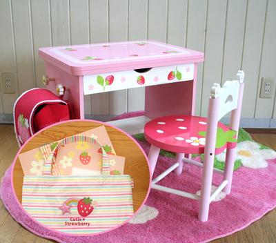 マザーグースの森 マザーガーデン 送料無料 野いちごキッズ木製家具 デスクでお絵かきセット