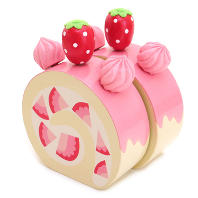 マザーガーデン マザーグースの森 木のおもちゃ イチゴロールケーキ