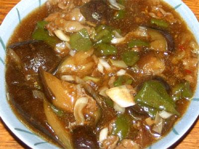 豚肉とナスの甜麺醤炒め
