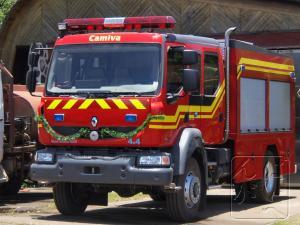 消防車もクリスマス