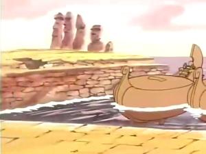モアイさん出演シーン01 - ムーの白鯨