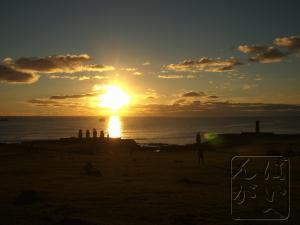 タハイでの夕日で〆