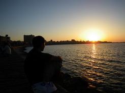 30may2010 地中海の夕日