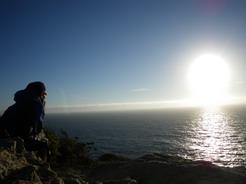 20hul2010 ヴィセンテ岬にて 西日に輝く大西洋