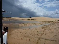 9jan2011 徐々に砂丘が見えてくる