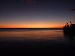 14mar2011 ニカラグア湖の夕焼け