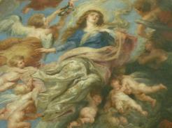 23jun2011 その祭壇の上に架かるルーベンスの絵「聖母被昇天」