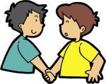 握手男の子