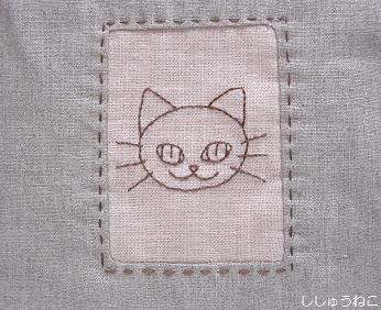 バックステッチ猫3