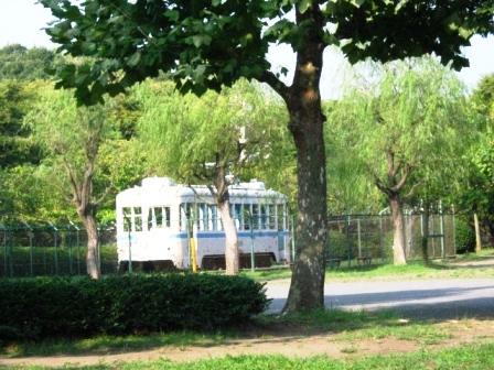 夕暮れ時の久良岐公園