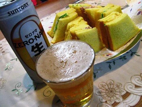 ゼロナマで昼ビール